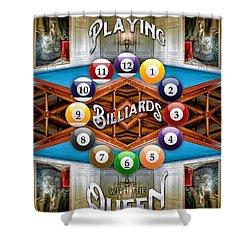 Playing Billiards With The Queen Versailles Palace Paris Shower Curtain