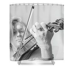 Shower Curtain featuring the photograph Playing Me Softly by Bob Christopher