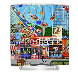 Playland In The Afterlife Shower Curtain