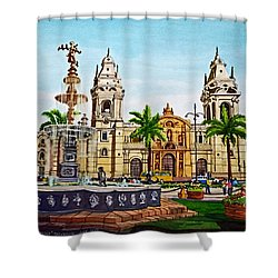 Plaza Armas, Cusco, Peru Shower Curtain