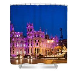 Plaza De Cibeles In Madrid Shower Curtain