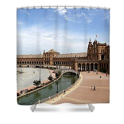 Shower Curtain featuring the photograph Plaza De Espana 4 by Andrew Fare