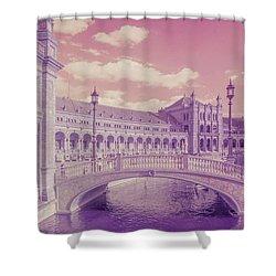 Shower Curtain featuring the photograph Plaza De Espana. Dreamy by Jenny Rainbow