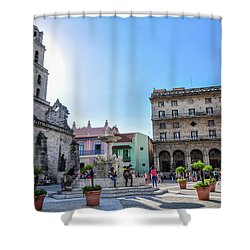Plaza De San Francisco De Asis Shower Curtain