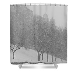 Plaza Impressionism With Kc Snow Shower Curtain