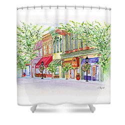 Plaza Shops Shower Curtain