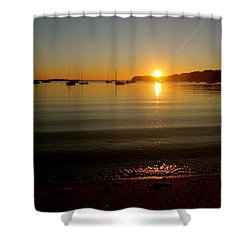 Pleasant Bay Sunrise Shower Curtain by Justin Connor