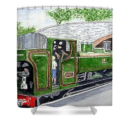 Please May I Drive? - Llangollen Steam Railway, North Wales Shower Curtain by Peter Farrow