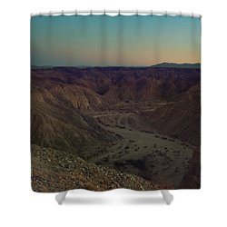 Please Stay Just A Little Bit Longer Shower Curtain by Laurie Search