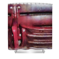 Please Take Your Seat Shower Curtain by Paulette B Wright