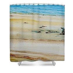 Pleasant Bay Clammer Shower Curtain
