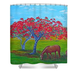 Pleasent Pastures Shower Curtain