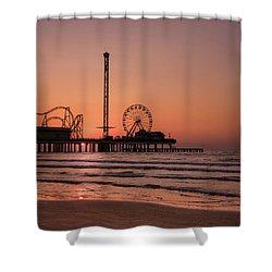 Pleasure Pier At Sunrise Shower Curtain