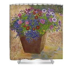 Shower Curtain featuring the painting Pleasure Pot by Richard James Digance