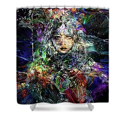 Pleiadian Bird Tribe Priestess Shower Curtain