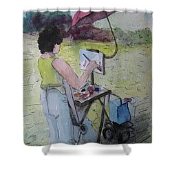 Plein-air Artist Sandra Shower Curtain