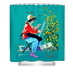 Plein Air Painter  Shower Curtain