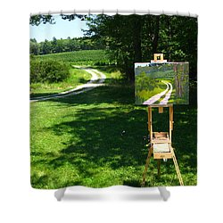 Plein Air Painter's Studio Shower Curtain