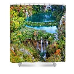 Plitvice Lakes In Croatia Shower Curtain