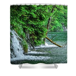 Plitvice Lakes National Park, Croatia - The Intersection Of Upper And Lower Lakes Shower Curtain