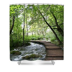 Plitvice Lakes National Park Shower Curtain