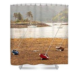 Plockton Sailboats Shower Curtain