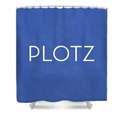 Plotz- Art By Linda Woods Shower Curtain by Linda Woods