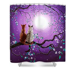 Plum Blossoms In Pale Moonlight Shower Curtain