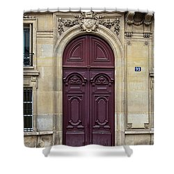 Plum Door - Paris, France Shower Curtain