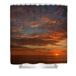 Plum Island Sunrise Shower Curtain