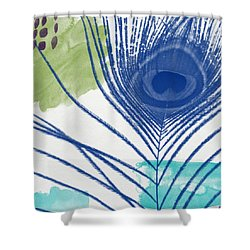 Plumage 3- Art By Linda Woods Shower Curtain by Linda Woods