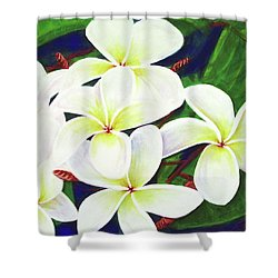 Plumeria Flower #289 Shower Curtain by Donald k Hall
