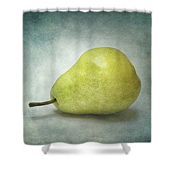Shower Curtain featuring the photograph Plump Pear by Kathi Mirto