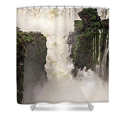 Shower Curtain featuring the photograph Plunge by Alex Lapidus