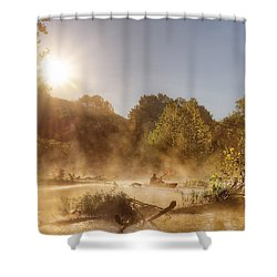 Plying Steamy Waters Shower Curtain