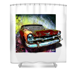 Plymouth From The Past Shower Curtain