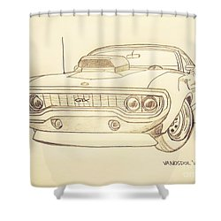 Plymouth Gtx American Muscle Car - Antique  Shower Curtain