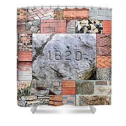 Plymouth Rocks And Bricks Shower Curtain