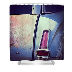 Plymouth Tail Light Shower Curtain