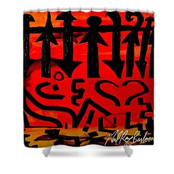 Pmurt Abstract  Shower Curtain