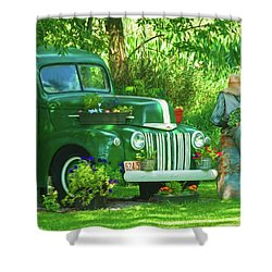 Po Boy Acres Shower Curtain by Trey Foerster