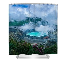 Poas Volcano, Costa Rica Shower Curtain