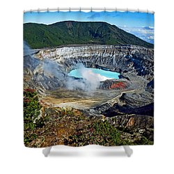 Poas Volcano Shower Curtain