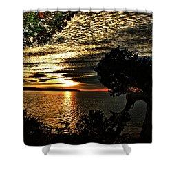 Pocasset Sunset Shower Curtain