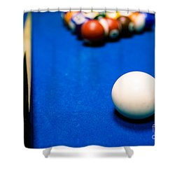 8 Ball Pool Table Shower Curtain
