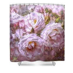 Pocket Full Of Roses Shower Curtain by Kari Nanstad