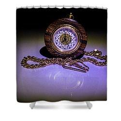 Pocket Watch Shower Curtain