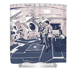 Pod Bay Shower Curtain