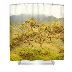 Podocarpus Tree Shower Curtain