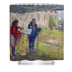 Poetry And Violin Shower Curtain